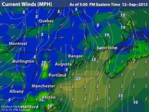 winds at 5pm, 9-12-13